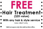 Free hair treatment
